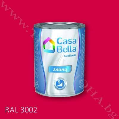 Каса Бела емайллак RAL3002 650мл.