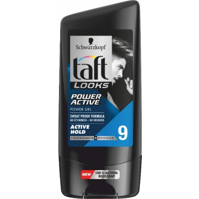 Гел Taft look power active 9 150мл