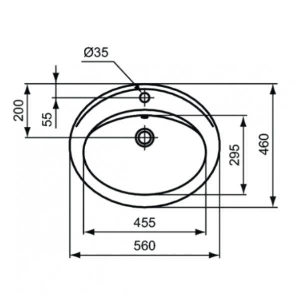 Мивка за вграждане 56 cm W504801 1