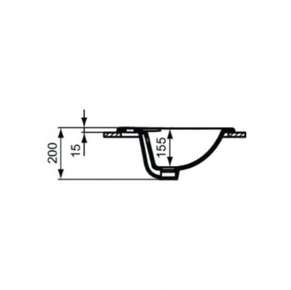 Мивка за вграждане 56 cm W504801 3