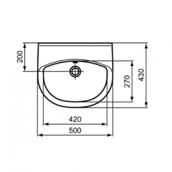 Мивка 50 cm W419401 1