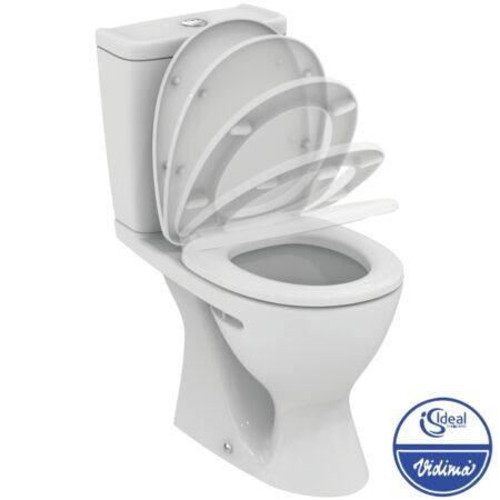 WC комплект Plus, вертикално оттичане, седалка с плавно спускане W908501