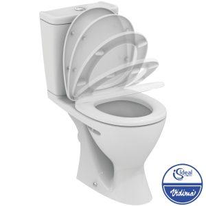 WC комплект Plus, хоризонтално оттичане, седалка с плавно спускане W908401