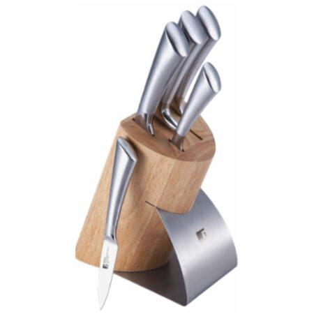 Дървен блок с ножове 6 части Bergner BG-4205-MM