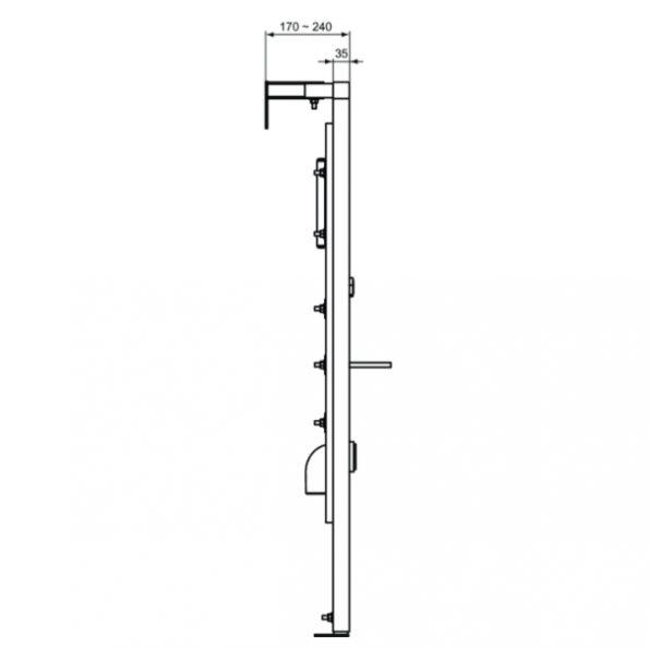 Инсталационна рамка за Писоар W589367 1