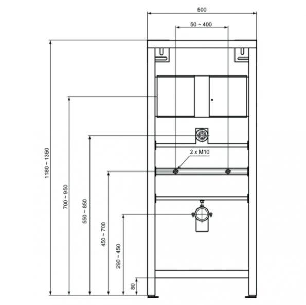 Инсталационна рамка за Писоар W589367