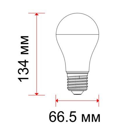 LED Крушка – 17W E27 A65 Термо Пластик Неутрално Бяла Светлина 4457 1