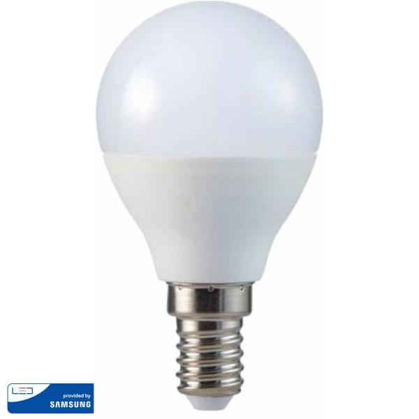 LED Крушка - SAMSUNG ЧИП 4.5W A++ E14 P45 3000K VT-225