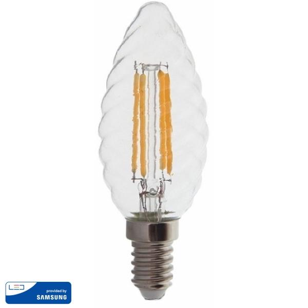 LED Крушка - SAMSUNG ЧИП 4W E14 Кендъл Спирала 2700K VT-274