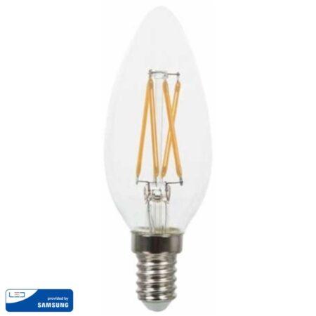 LED Крушка - SAMSUNG ЧИП 4W E14 Кендъл 2700K VT-254