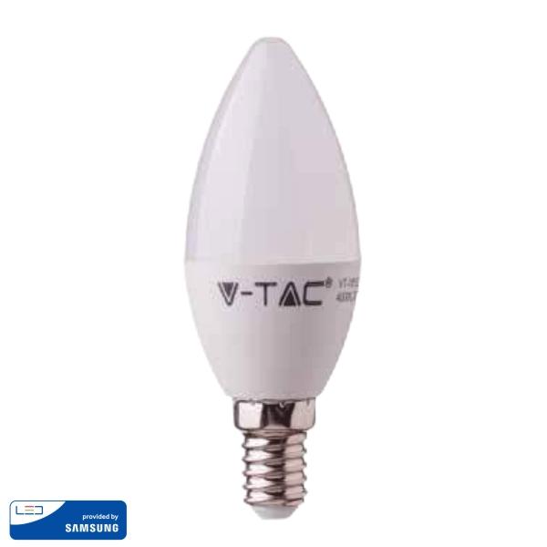 LED Крушка - SAMSUNG ЧИП 5.5W E14 Кендъл Неутрална Светлина VT-226