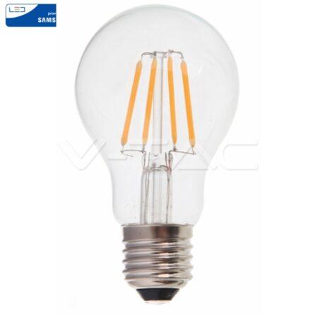 LED Крушка - SAMSUNG ЧИП Filament 6W E27 A60 2700K VT-256