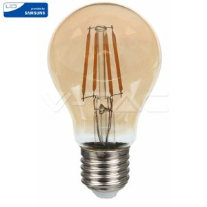 LED Крушка - SAMSUNG ЧИП Filament 6W E27 Amber A60 2200K VT-266