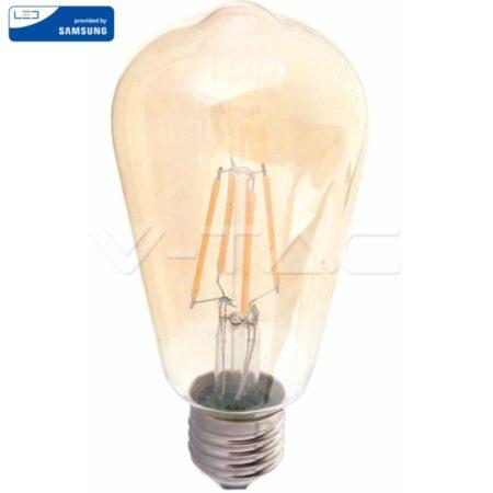 LED Крушка - SAMSUNG ЧИП Filament 6W E27 ST64 2200K VT-276