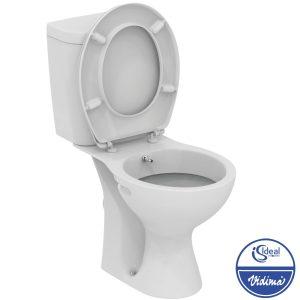 WC + биде, комплект, хоризонтално оттичане E404901