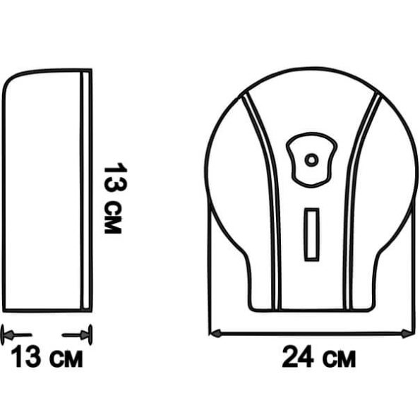 Диспенсер за тоалетна хартия, код Х17