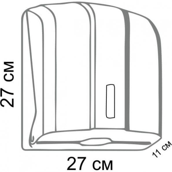 Диспенсер за хартиени кърпи, код Х12