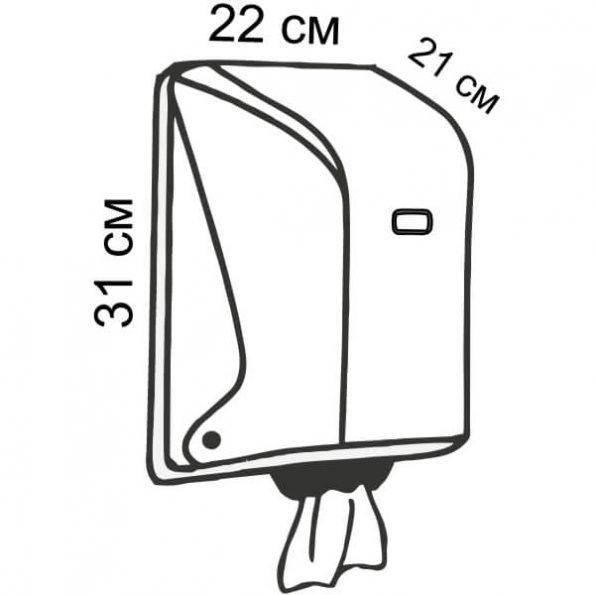 Диспенсер за хартиени ролки, код Х15