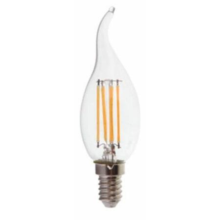 LED Крушка - 4W Filament E14 Кендъл Пламък VT-1997