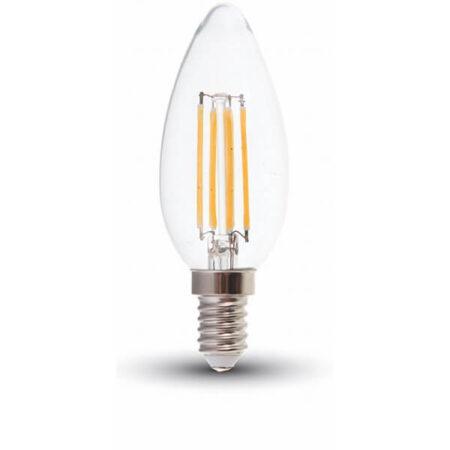 LED Крушка - 6W Filament E14 Кендъл VT-2127