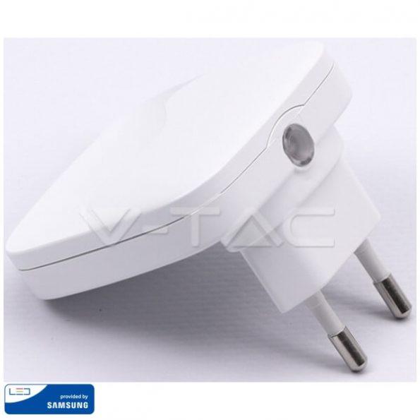 LED Нощна Лампа за Контакт Квадрат 60x60x54.5mm VT-83 1