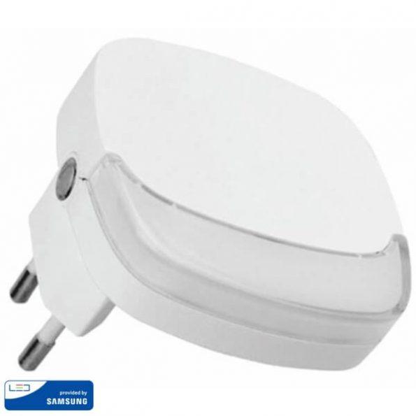 LED Нощна Лампа за Контакт Квадрат 65x65x53.4mm VT-82