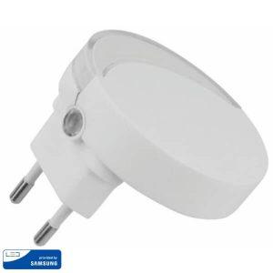 LED Нощна Лампа за Контакт Кръгла 65x53.4mm VT-82