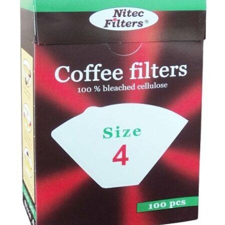 Филтър No 4 хартиен за кафе 100 броя