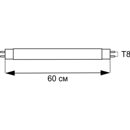 Луминисцентна пура 18W Т8 схема