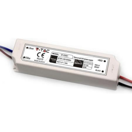 LED Захранване Plastic 60W 12V IP67 VT-22061