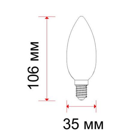 Led крушка 5W Е14 2700К свещ Осрам 4673 2