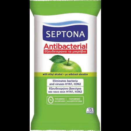 Антибактериални кърпички Септона ябълка