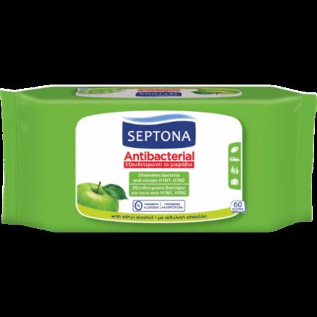 Антибактериални кърпички Септона ябълка 60бр