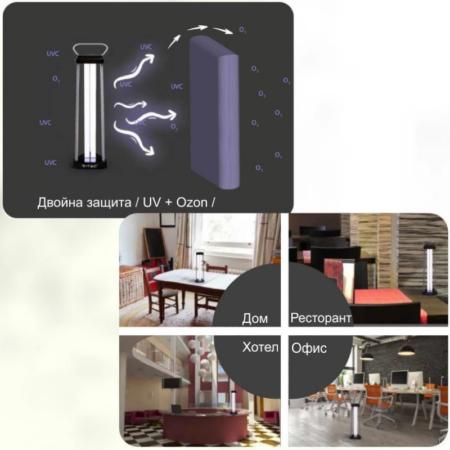 Бактерицидна Антивирусна Лампа с Озон за 60м2 1